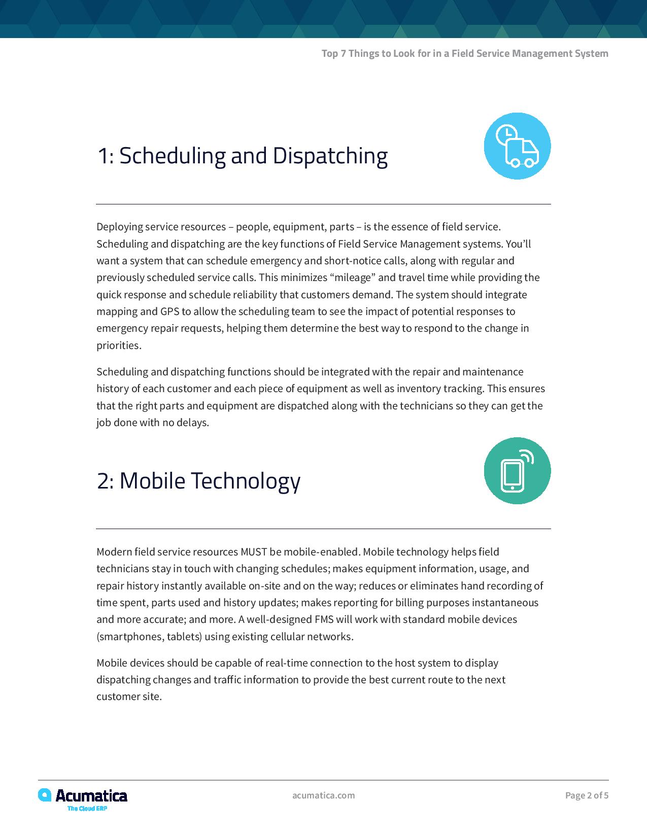 Top 7 Things to Look For in a Field Service Management System, page 1