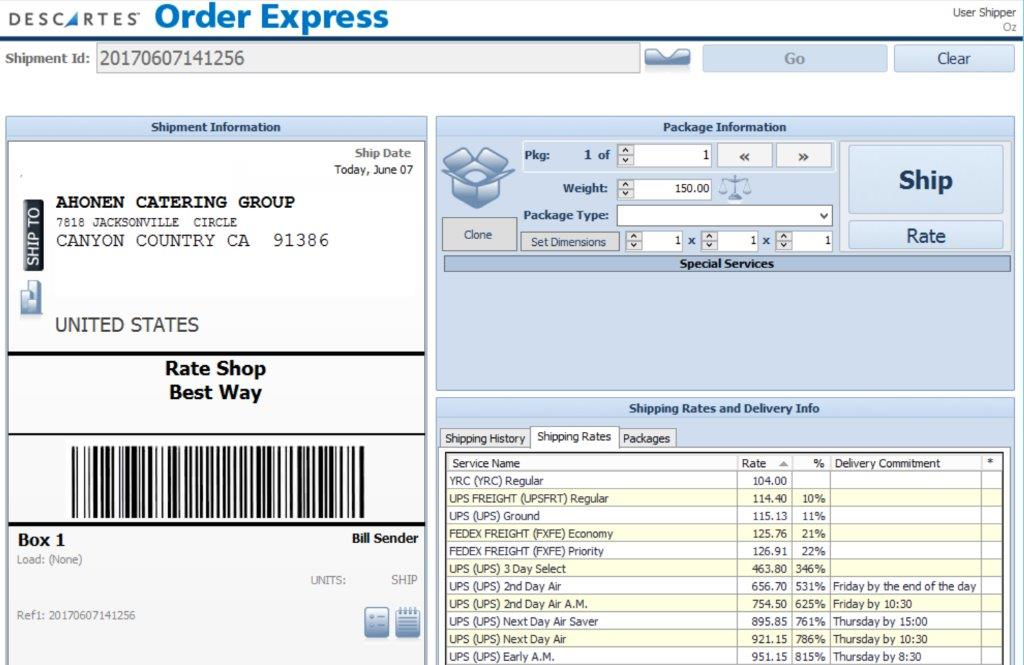 Order Express Screen Shot