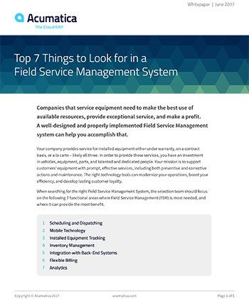 Top 7 Things to Look For in a Field Service Management System