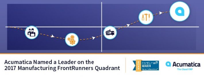 Acumatica Named a Leader on the 2017 Manufacturing FrontRunners Quadrant