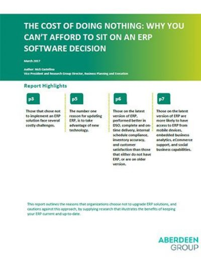 The Cost of Doing Nothing: Why You Can't Afford to Sit on an ERP Software Decision
