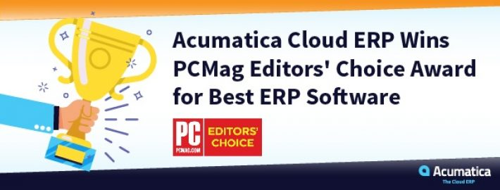 Acumatica Cloud ERP Wins PCMag Editors' Choice Award for Best ERP Software