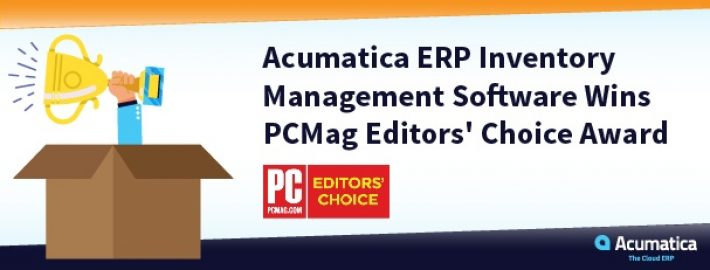 Acumatica's ERP Inventory Management Software Wins PCMag Editors' Choice Award