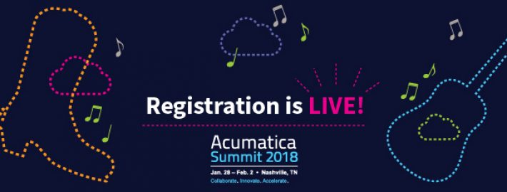 Acumatica Summit 2018 Registration is Live!