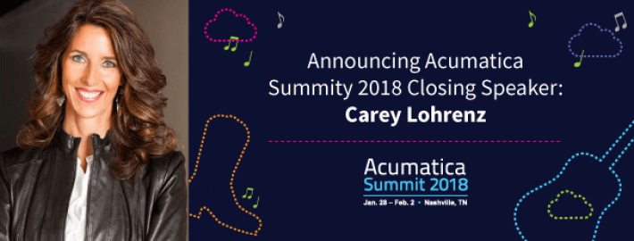 Announcing Acumatica Summit 2018 Closing Speaker: Carey Lohrenz