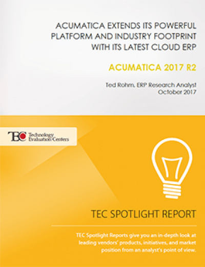 Acumatica Extends its Powerful Platform and Industry Footprint with its Latest Cloud ERP