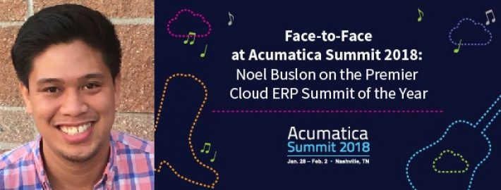 Face-to-Face at Acumatica Summit 2018: Noel Buslon on the Premier Cloud ERP Summit of the Year