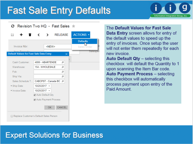 Fast Sales Entry 4