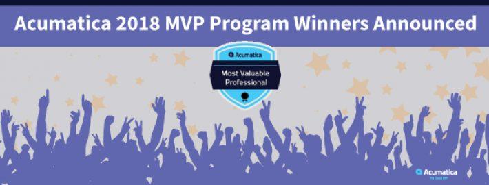 Acumatica 2018 MVP Program Winners Announced