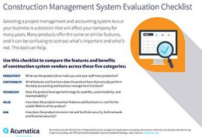 Choosing the Right Construction ERP Management Software