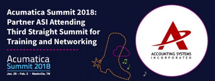 Acumatica Summit 2018: Partner ASI Attending Third Straight Summit for Training and Networking