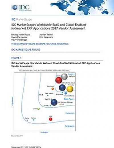 IDC MarketScape: Worldwide SaaS and Cloud-Enabled Midmarket ERP Applications 2017 Vendor Assessment