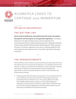 Acumatica looks to continue 2017 momentum