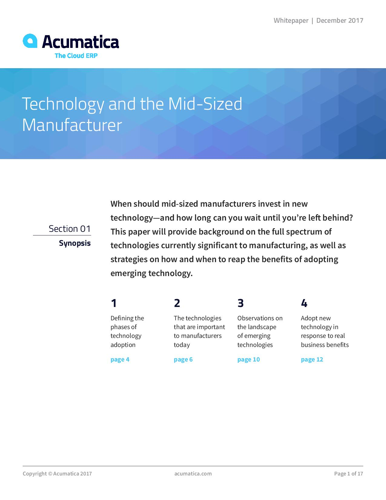 Manufacturing technology: Get all the benefits without all the risk, page 0