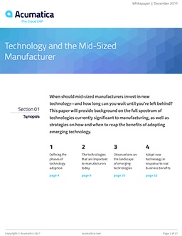 Technology and the Mid-Sized Manufacturer