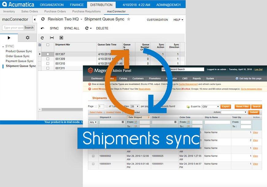 Shipments Sync