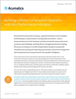 KPIs for Construction