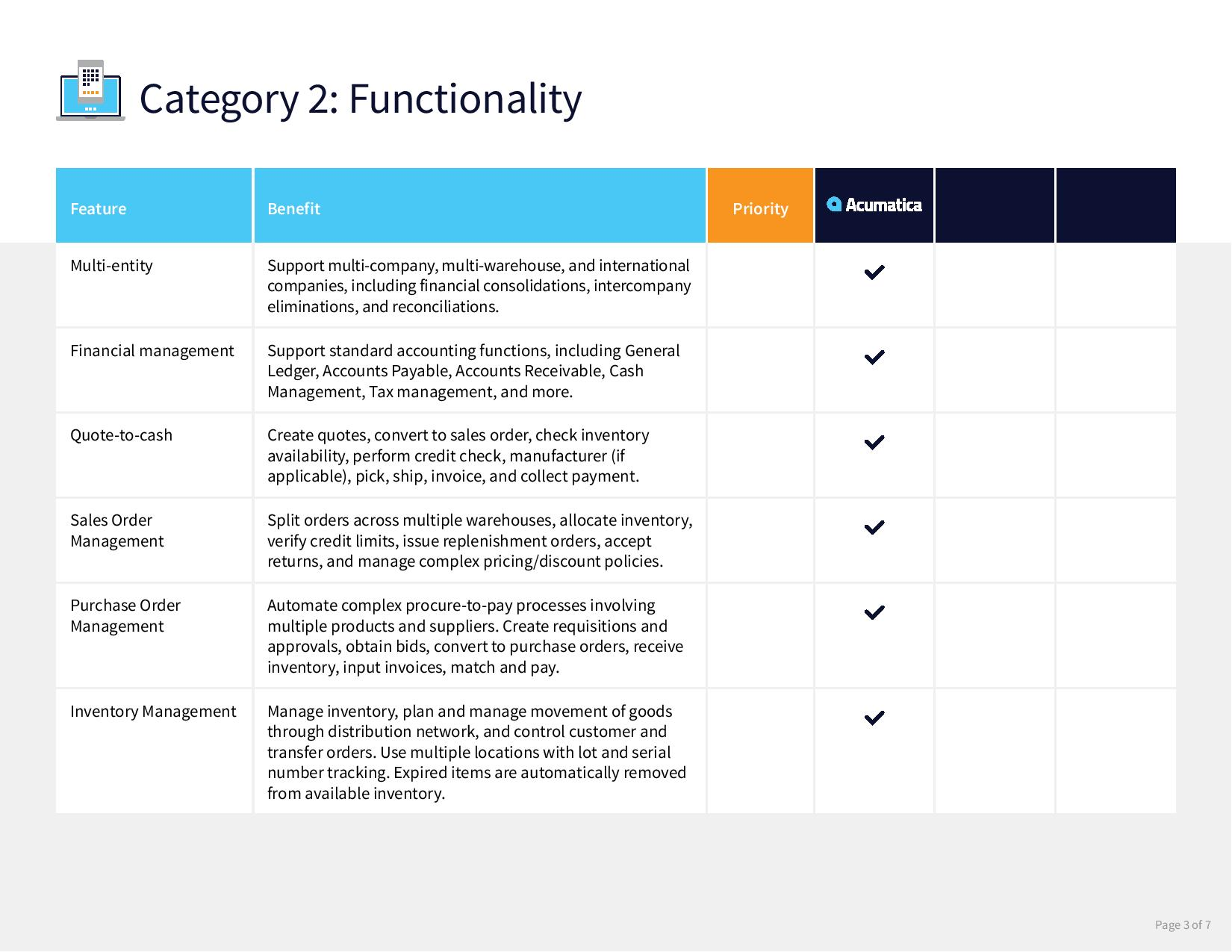 Compare distribution ERP systems with this free checklist., page 2