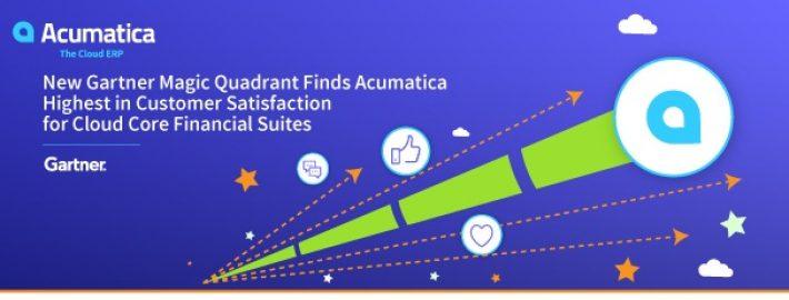 NewGartnerMagicQuadrant Finds Acumatica Highest in Customer Satisfaction for Cloud Core Financial Suites