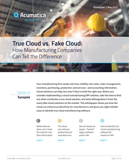 True Cloud vs. Fake Cloud for Manufacturing