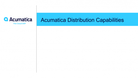 Acumatica Distribution Capabilities