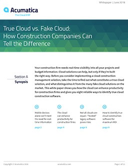 True Cloud vs. Fake Cloud: How Construction Companies Can Tell the Difference