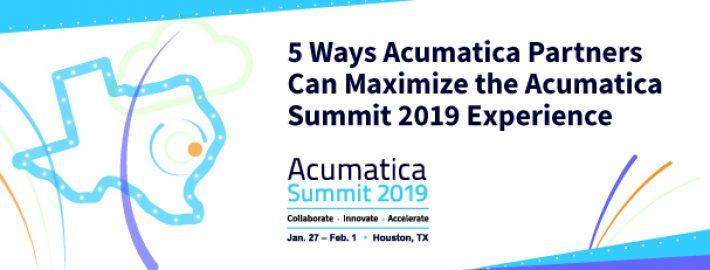5 Ways Acumatica Partners Can Maximize the Acumatica Summit 2019 Experience