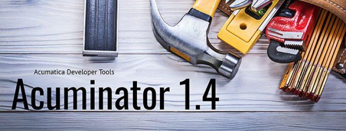 New Release Available: Acuminator 1.4 Visual Studio Extension