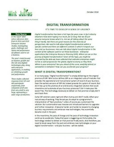 Digital Transformation: It's Time to Develop a Sense of Urgency