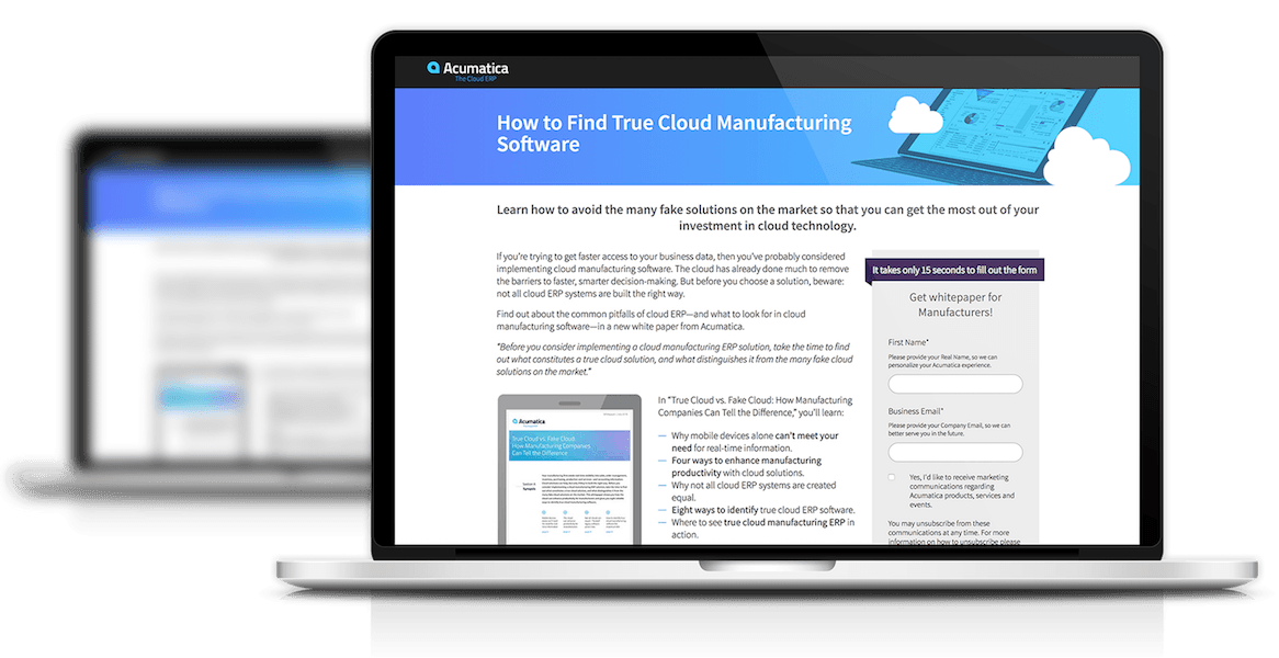 Still Looking for True Cloud Manufacturing Software? Here's Where It Is.