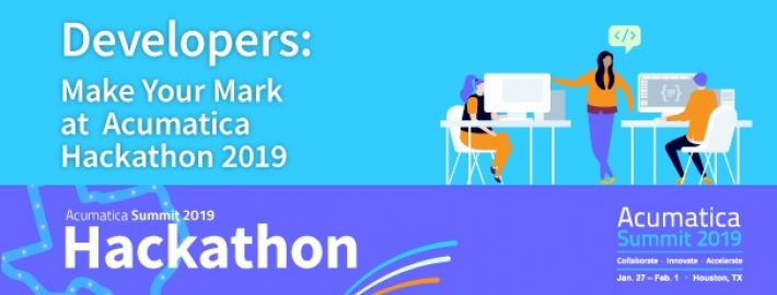 Developers: Make Your Mark at Acumatica Hackathon 2019