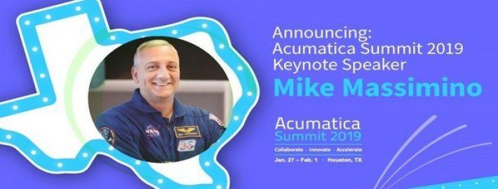Announcing: Acumatica Summit 2019 Keynote Speaker Mike Massimino