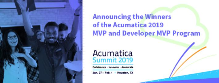 Announcing the Winners of the Acumatica 2019 MVP and Developer MVP Program