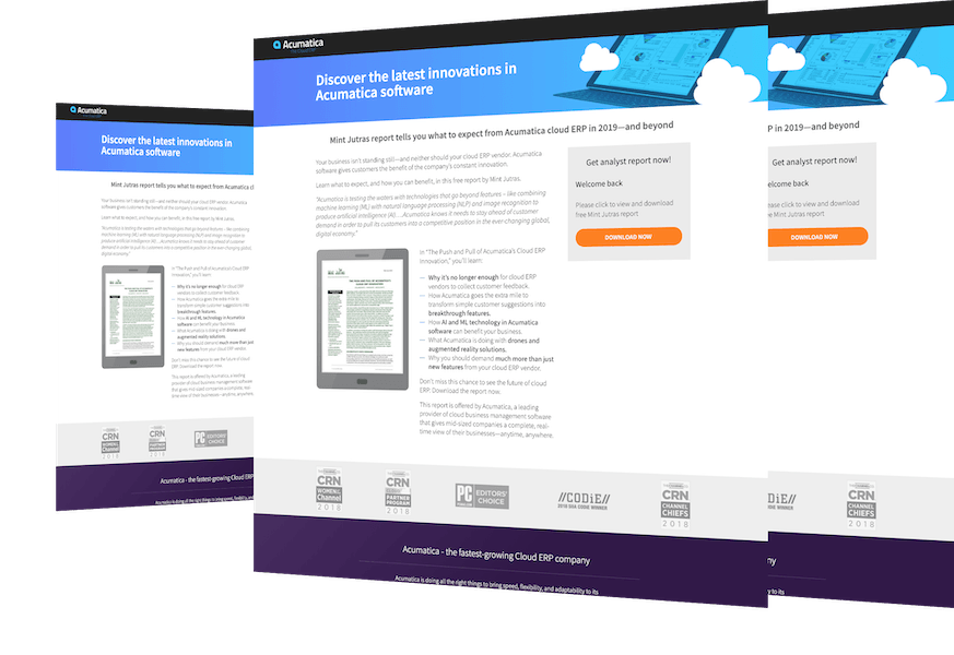Highlights of Acumatica's Cloud ERP Innovation