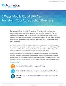 5 Ways Mobile Cloud ERP Can Transform Your Construction Business