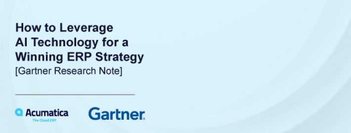 How to Leverage AI Technology for a Winning ERP Strategy [Gartner Research note]