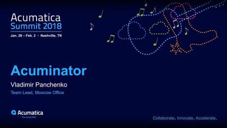 Acumatica Summit 2018: Developer Lightning Track Session – Acuminator
