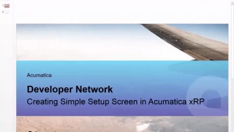 Creating a Simple Setup screen