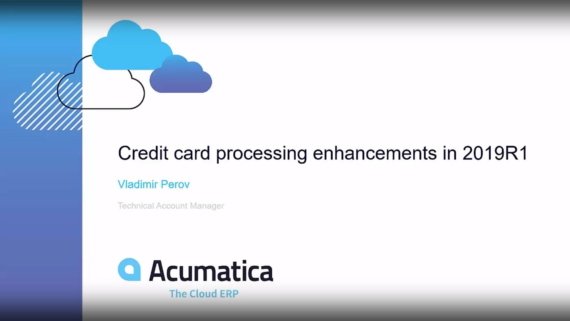 Developer Webinar Series: Credit Card Processing Enhancements