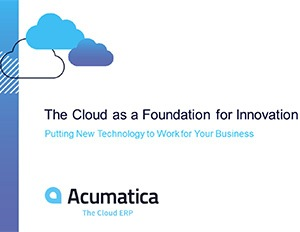 The Cloud as a Foundation for Innovation