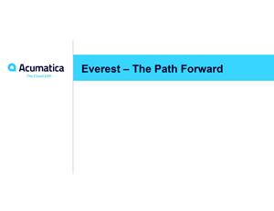 Everest - The Path Forward