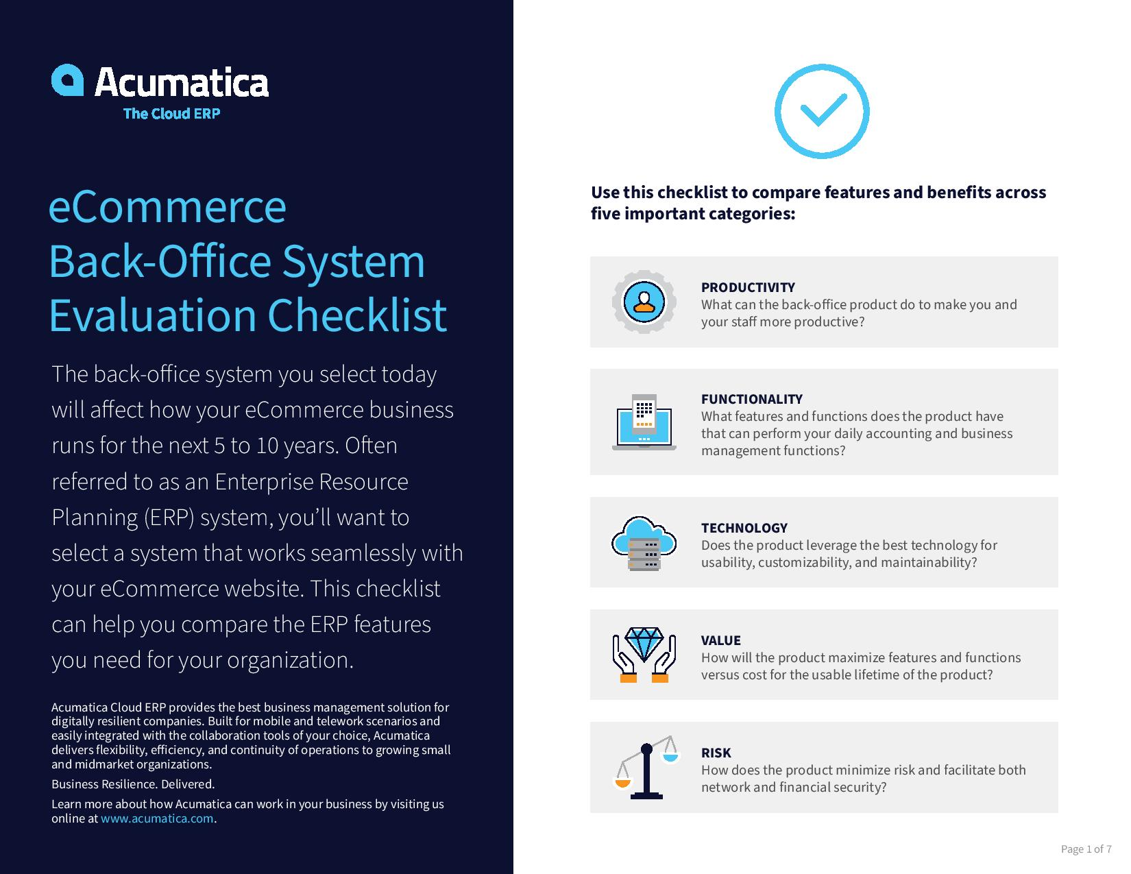 Select the right back-office system for your eCommerce business., page 0