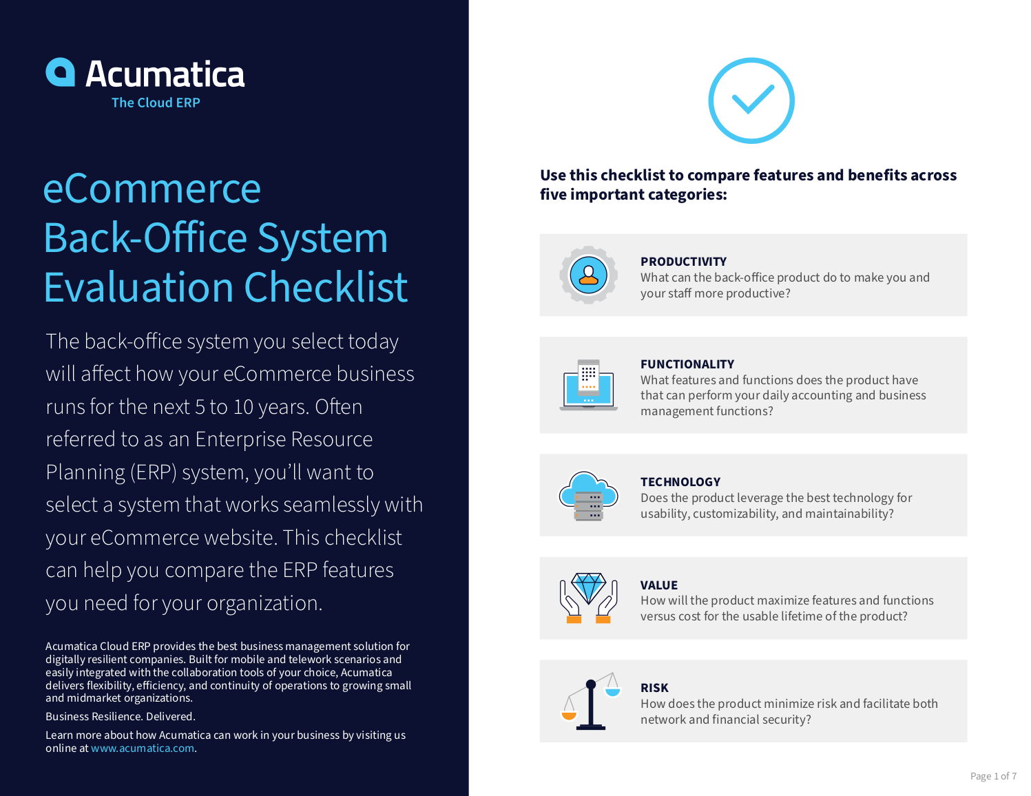 Select the right back-office system for your eCommerce business.