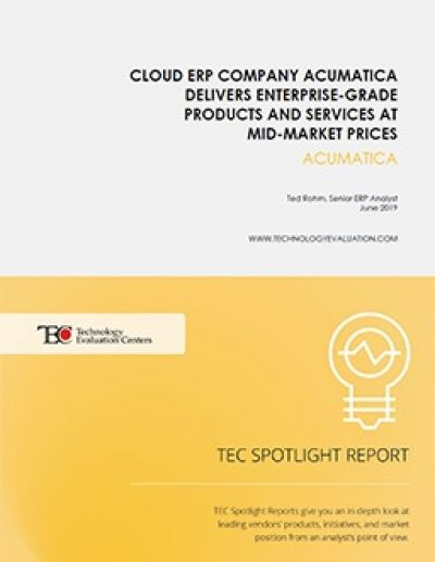 Cloud ERP Company Acumatica Delivers Enterprise-Grade Products and Services at Mid-Market Prices