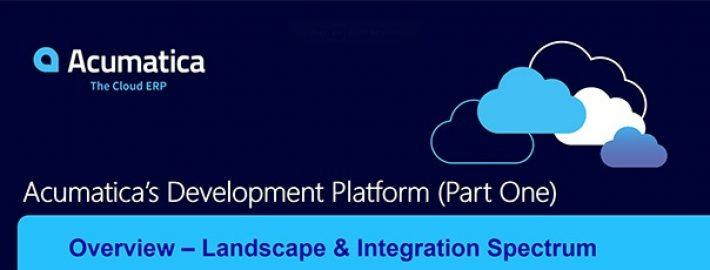 Acumatica's Development Platform – Part I