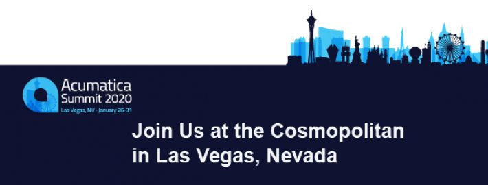 Acumatica Summit 2020: Join Us at the Cosmopolitan in Las Vegas, Nevada