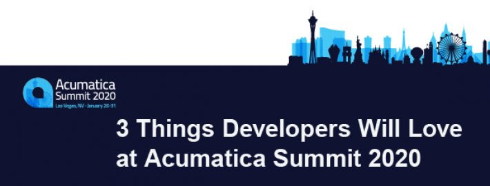 3 Things Developers Will Love at Acumatica Summit 2020