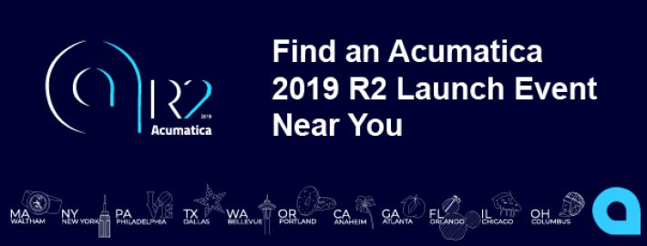 Find an Acumatica 2019 R2 Launch Event Near You