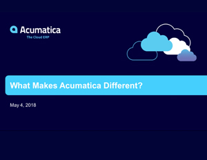 What Makes Acumatica Different Webinar