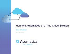 Advantages of a True Cloud Solution Webinar